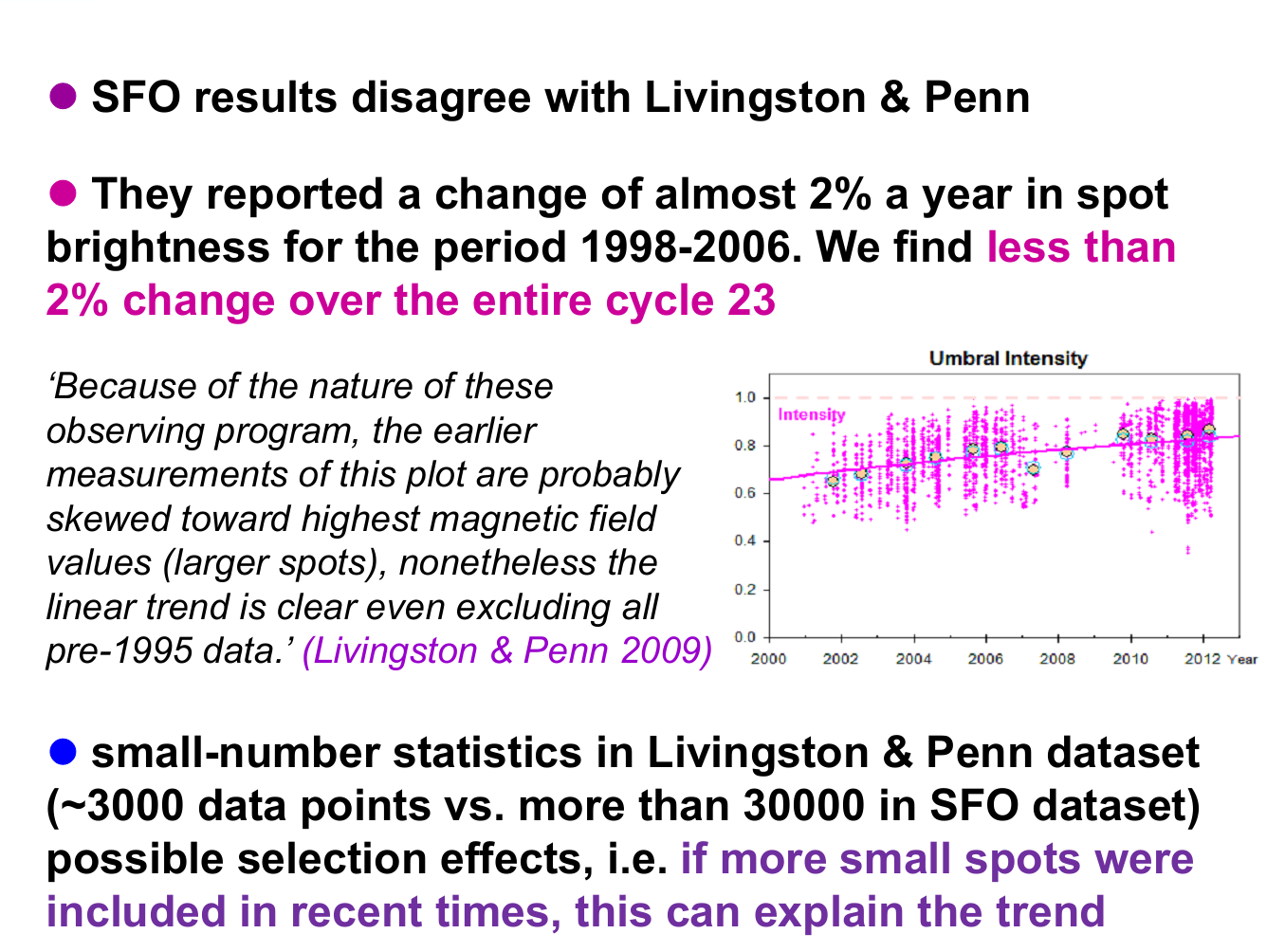 livingston and Penn L&P effect